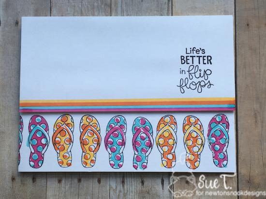 Life is better in flip flops by Sue features Flip-flop Life by Newton's Nook Designs; #newtonsnook