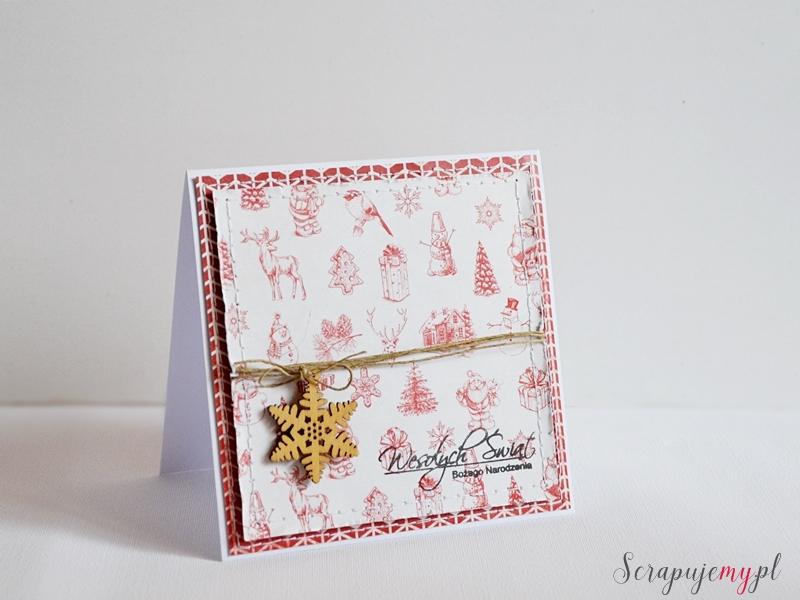 Kartka na boże narodzenie, Kartka na święta, Christmas card, scrapbooking card,