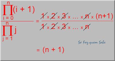 Exercício de simplificação de uma expressão contendo produtórios no numerador e no denominador