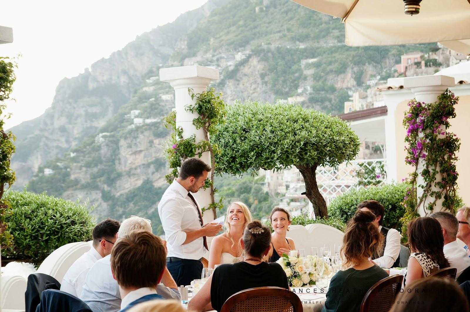 Groom speech at Hotel Marincanto in Positano