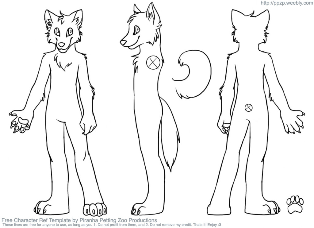 Fursuit Reference Sheet Template