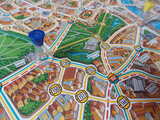 board game map london, scotland yard, detective game