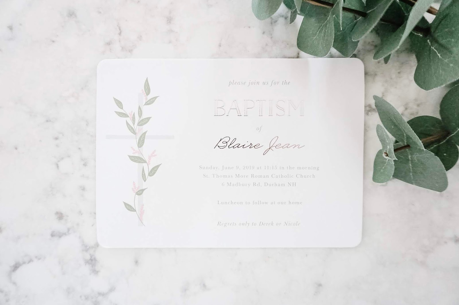Baptism Invitations with Basic Invite