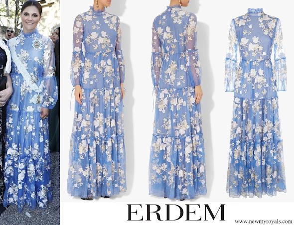 Crown Princess Victoria wore ERDEM Cassandra Gown