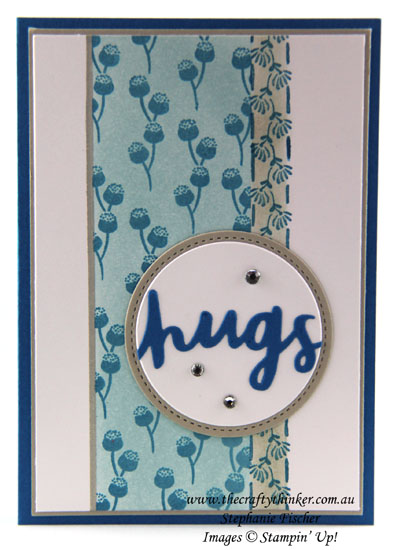 #crazycraftersbloghop, Floral Phrases, Lovely Words, Masking & Sponging, #thecraftythinker, Stampin Up Australia Demonstrator, Stephanie Fischer, Sydney NSW