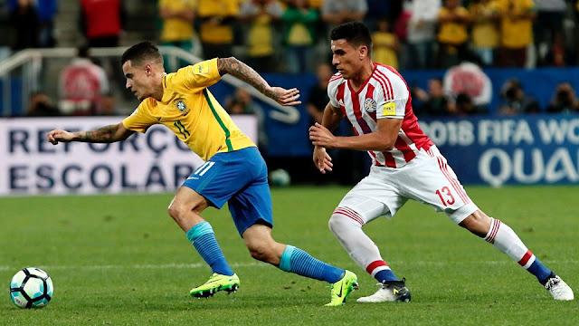 Brasil 3-0 Paraguay eliminatorias Conmebol Rusia 2018