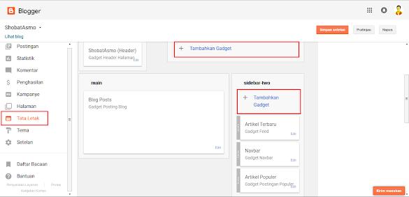 Cara Menambahkan Dan Memasang Widget Pada Blogger