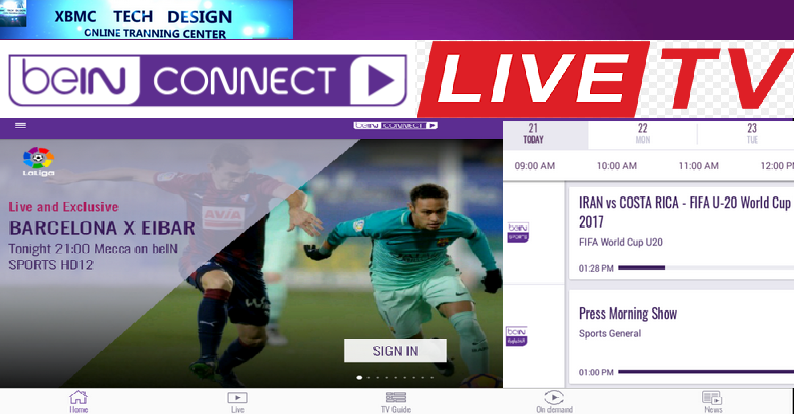 Download BeinConnect (Pro) IPTV Apk For Android Streaming Live Cricket ,Sports on Android      Quick BeinConnect (Pro)IPTV Android Apk Watch Premium Cable Live Sports Channel on Android