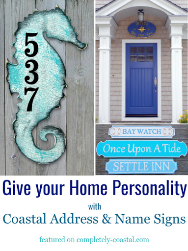 Decorative Exterior House Wall Address Signs and Name Plaques