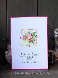 """stampin up karte Geburtstag mit Stempelset """"Wie ein Weihnachtslied"""" von Demonstratorin in Coburg"""