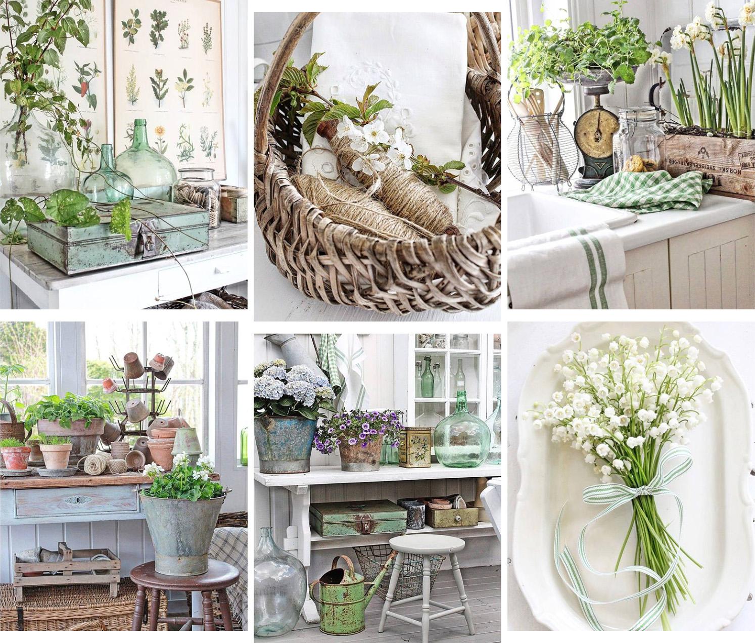 A primavera rinasce il mio animo green shabby chic interiors - Shabby chic giardino ...