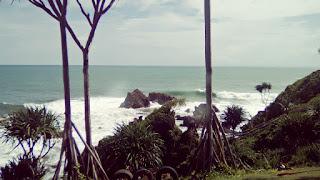 Peta Lokasi Pantai Karang Tawulan Tasikmalaya Cikalong Cipatujah