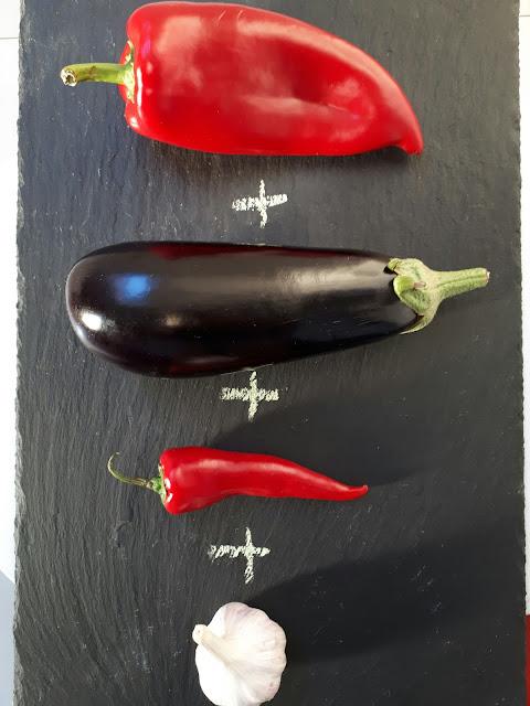 papryka, bakłażan, chilli, czosnek