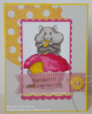 what cupcake birthday hamster card using mojobella sketch