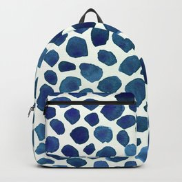 Blue minimalist watercolor backpack