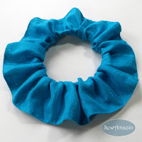 Blue Sparkle Dog Scrunchie Ruffle