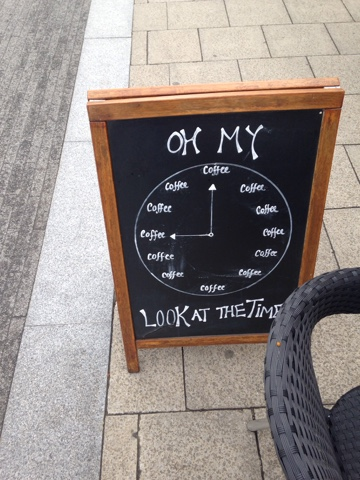 Oh My Look at the Time ... Coffee O'Clock