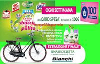 Logo Eroi di Casa ''La tua casa sboccia di pulito'': vinci 1 buono spesa ogni settimana e 1 bicicletta Bianchi