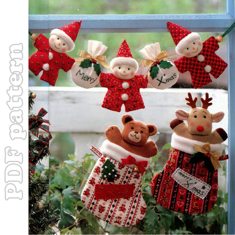 Big Christmas Plush Ornaments Sewing Pattern PDF ...