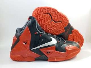 Nike LeBron 11 AWAY Red Black  Jual Sepatu Basket Replika Import Premium