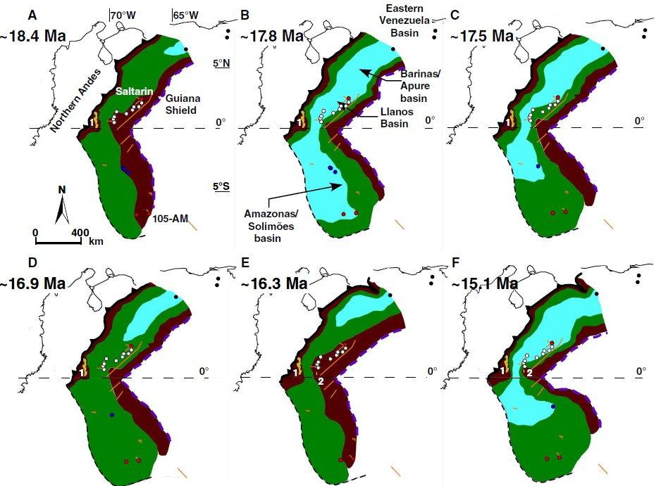 Las regiones del norte de América del Sur, inundadas durante la «gran inundación».