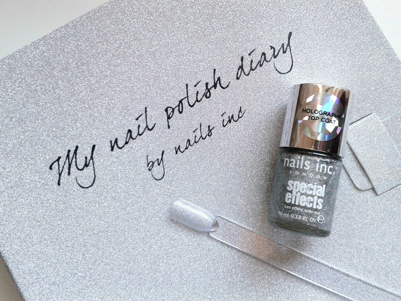 Nails Inc Electric Lane Holographic Top Coat Beauty Review Nails Inc Nail Polish Diary: September