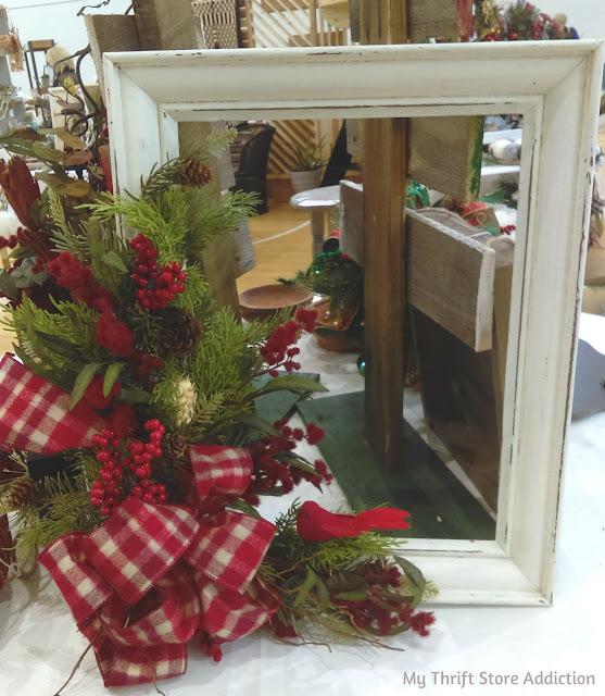 shop local frame holiday wreath