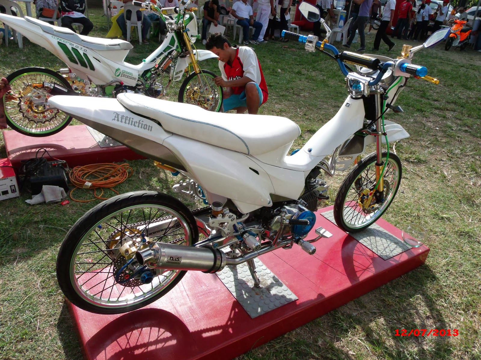 underbone tuner: the new honda xrm product launch and bike show