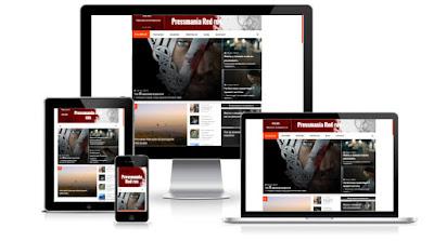 Pressmania red новостной шаблон для blogger