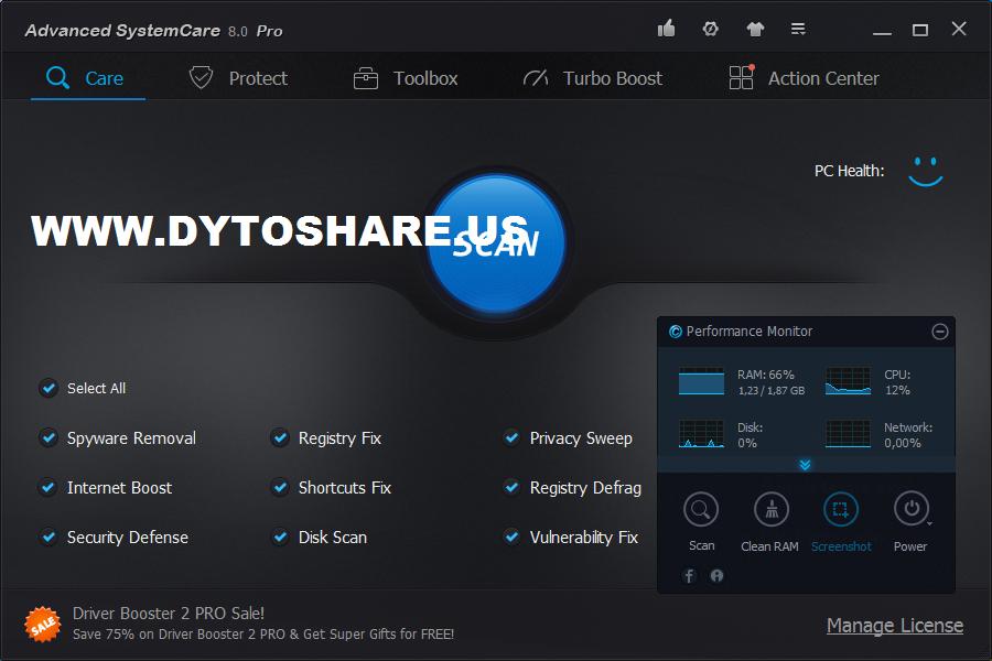Advanced Systemcare PRO 8   TKJ 4   Free Download Software ...