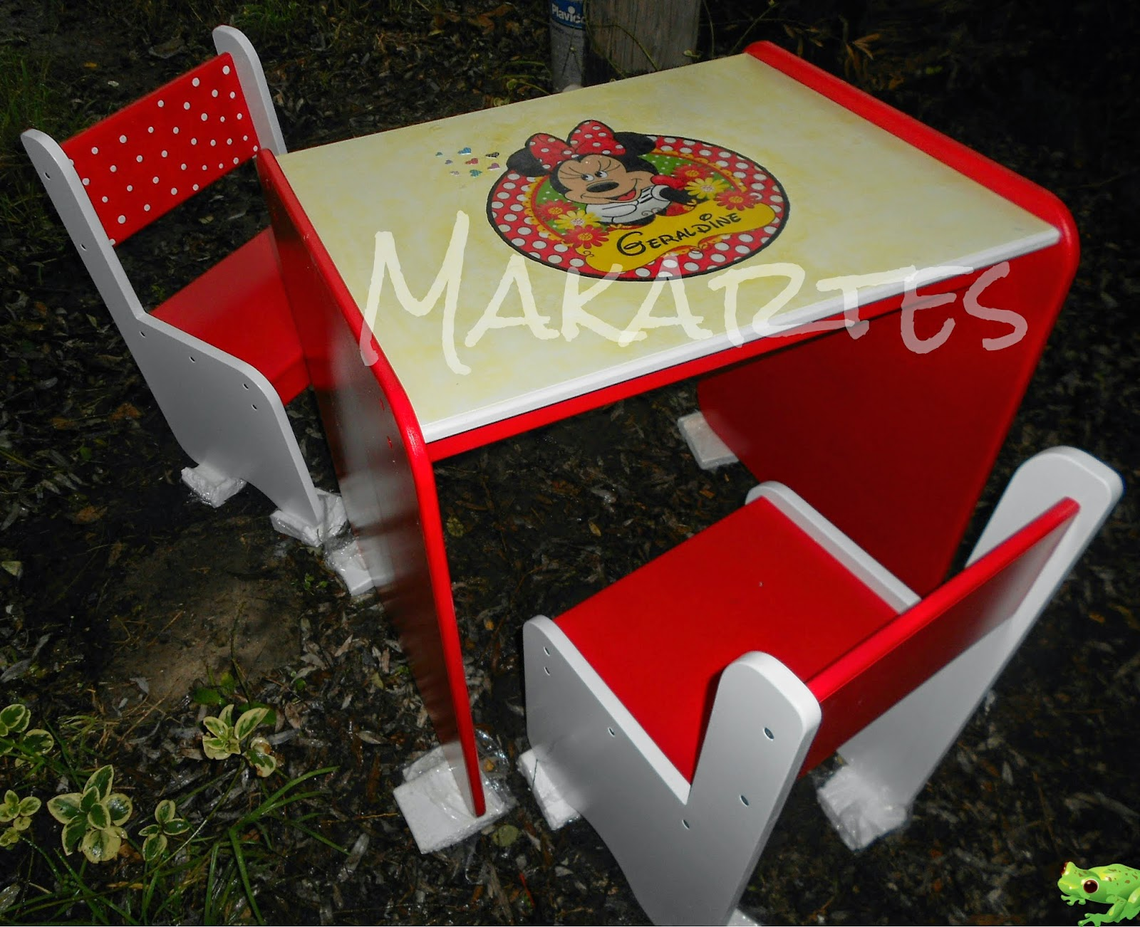 Minnie Table And Chairs Baby Chair Set Makartes Artesanías Mesa Y Sillas Quotminnie Quot