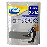– –  up to 50% OFF comfy flight socks – 1 Pair Shoe – Sizes 9 1/2-12, Black £12.99