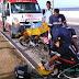 Entregador de Água cai de moto na Bandeira
