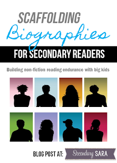 Teachers already know that students dislike reading non-fiction, and biographies seem especially tough for kids. In this blog post, I'm sharing a few tips for scaffolding biographies for secondary readers to make them more accessible and enjoyable.