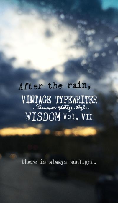 VINTAGE TYPEWRITER WISDOM Vol.VII