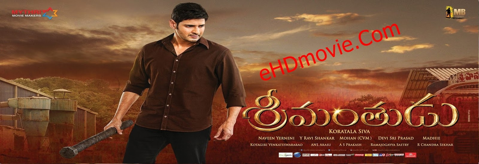 The Real Tevar [Srimanthudu] 2015 Full Movie Dual Audio [Hindi – Telugu] 720p - 480p ORG BRRip 500MB - 1.4GB ESubs Free Download