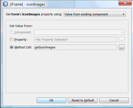 NetBeans JFrame Properties: iconImage - Mark's Area of Thoughts