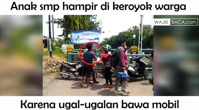 Orang Tua Perlu Tahu! Anak SMP Ugal-Ugalan Bawa Mobil Hampir Dikeroyok Warga