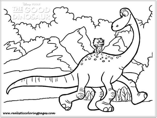 Printable Arlo and Spot good dinosaur coloring pages