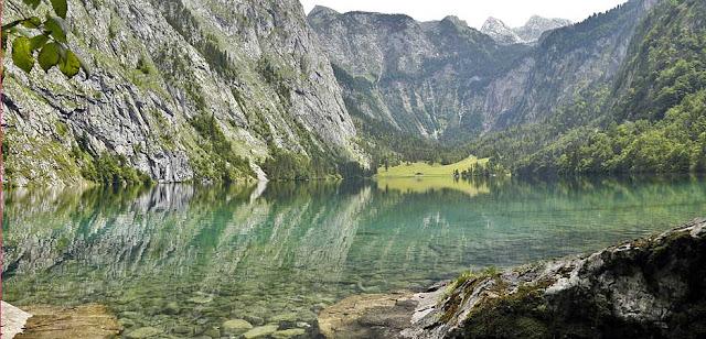 Der Obersee in Berchtesgaden