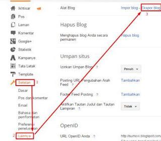cara mudah backup artikel blogspot
