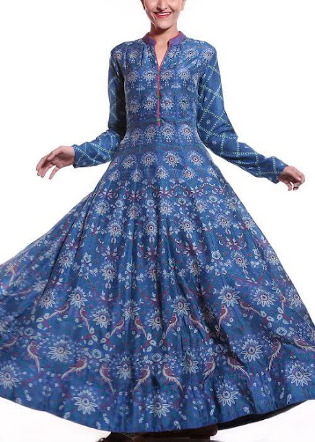 Graceful Anarkali Long Kurti with Full Sleeves