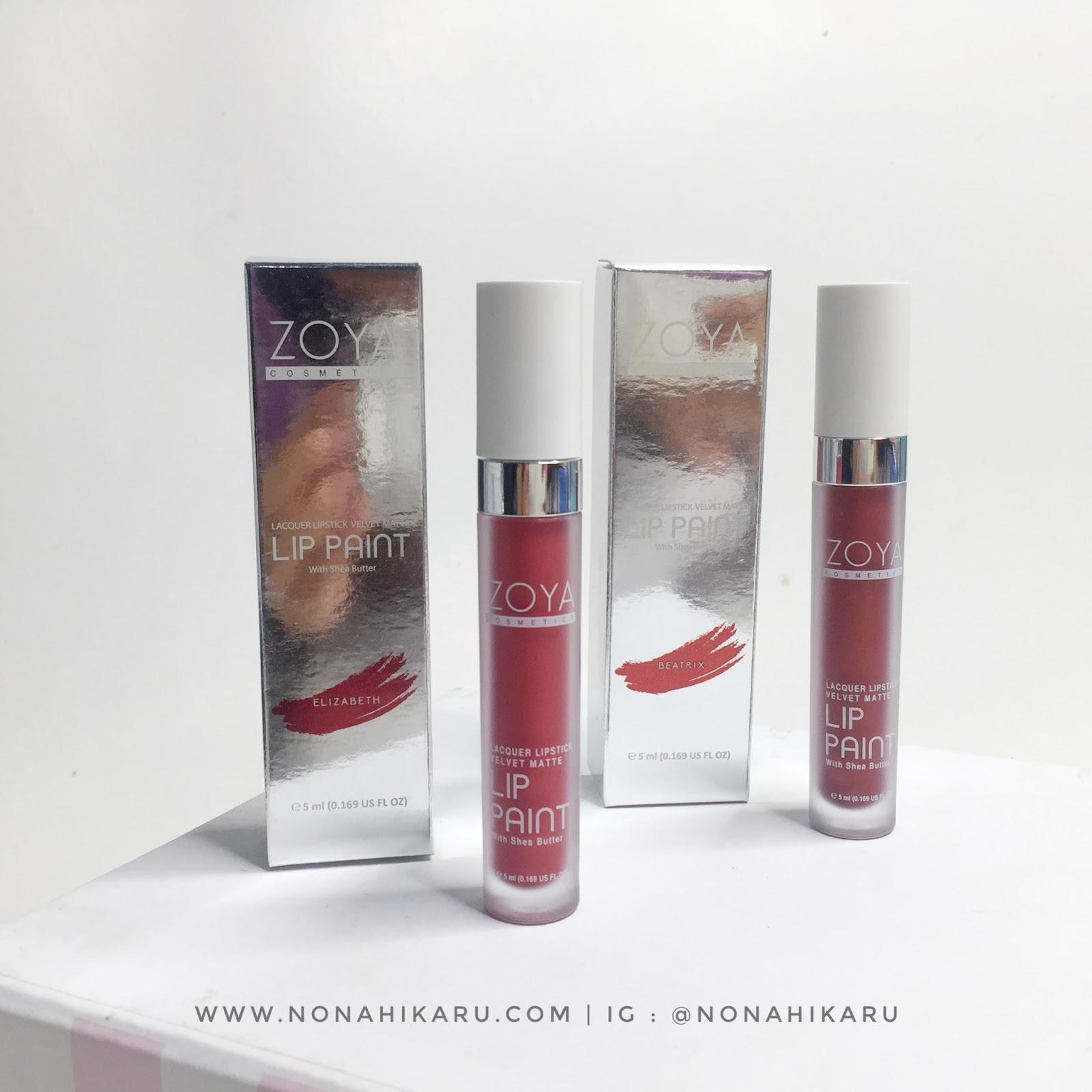 Review Zoya Cosmetics New Limited Lip Paint Metallic Series Produk Ini Di Klaim Memiliki Formula Yang Tetap Transferproof Long Lasting Dan Moisturizing Karena Kandungan Shea Butter Sebagai Antioksidan