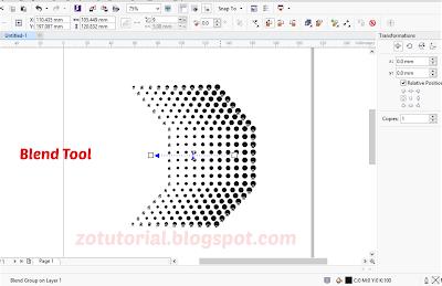 Tutorial Membuat Efek Halftone dengan CorelDraw X7 (Dot Effect)