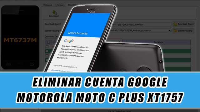 eliminar cuenta Google Motorola Moto C Plus XT1757