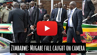 Watch Zimbabwe President Robert Mugabe Fall turn into Hilarious Internet Memes via geniushowto.blogspot.com viral internet photos and videos