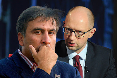 Saakashvili accused the Yatsenyuk's Cabinet of failing the reforms and of work for oligarchs