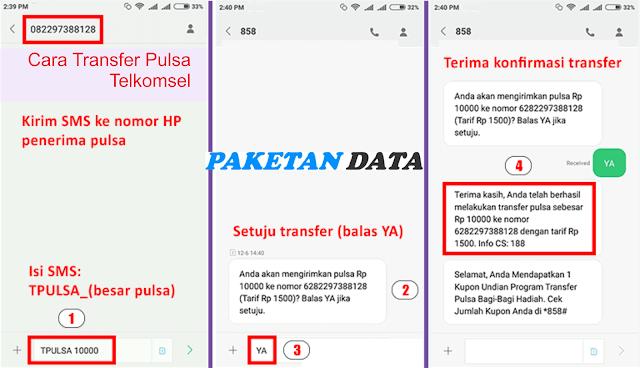 Cara Transfer Pulsa ke Sesama Telkomsel Melalui SMS
