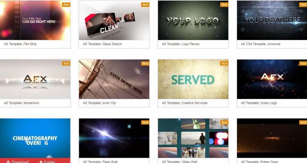 ثلاثة مواقع لتحميل قوالب لمقدمات فيديو خيالية مجانا للتعديل عليها على برنامج After Efects