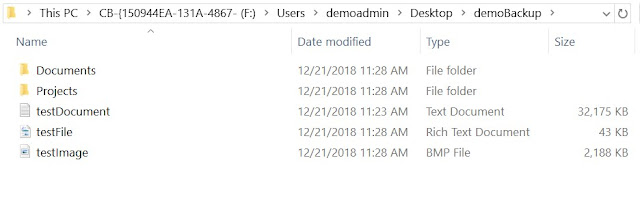Mounted files and folders